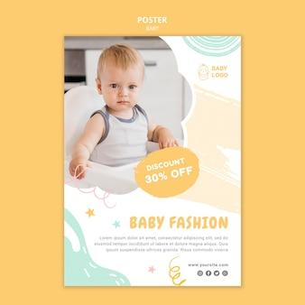 Modello di poster del negozio di bambini con offerta