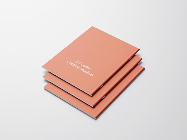 Copertina posteriore del mockup del catalogo di lettere