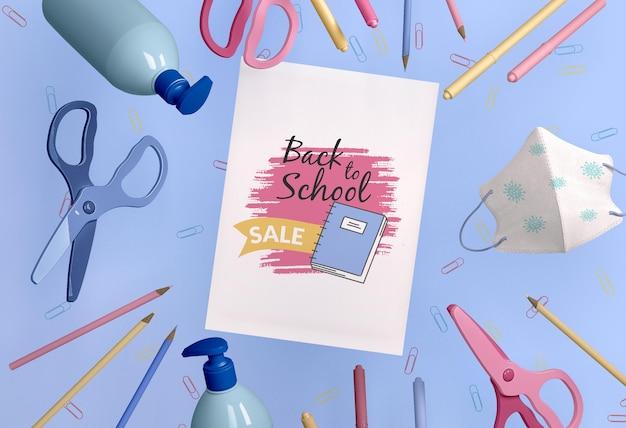 Torna al concetto di scuola mock-up