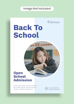 Torna a scuola poster modello a4