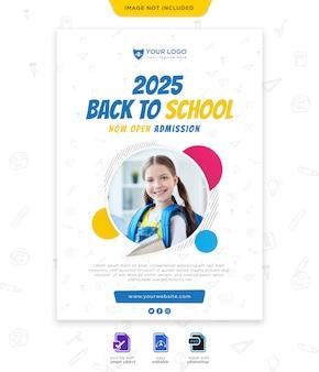 Torna al modello di poster stagione scolastica