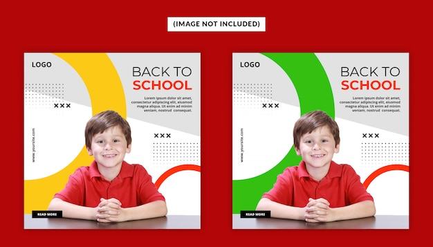 Modello post - social media back to school psd