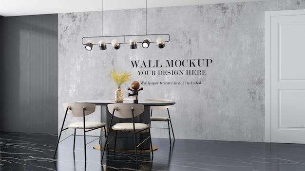 Mockup di sfondo per parete interna
