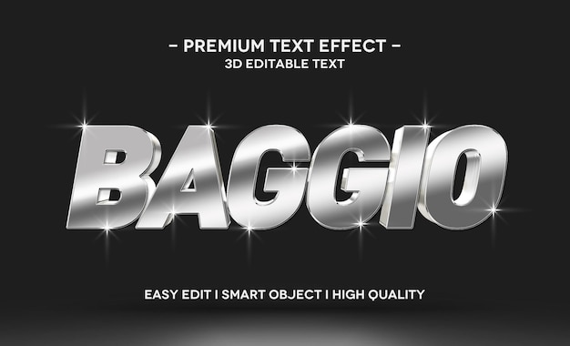 Modello effetto stile testo baggio 3d