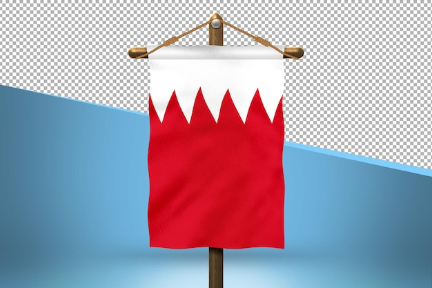 Bahrain hang flag design background