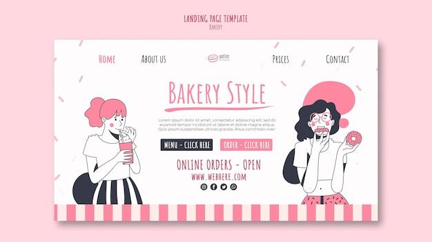 Pagina di destinazione del modello di annuncio di panetteria