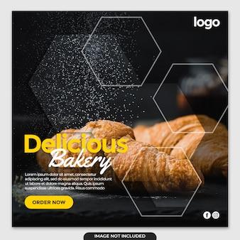 Post di banner instagram di panetteria