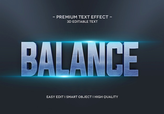 Modello di stile di effetto di testo di equilibrio