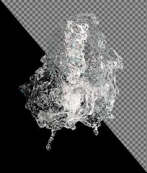 Quantità di materia palla goccia d'acqua che galleggia nell'aria dalla cortina disattivata