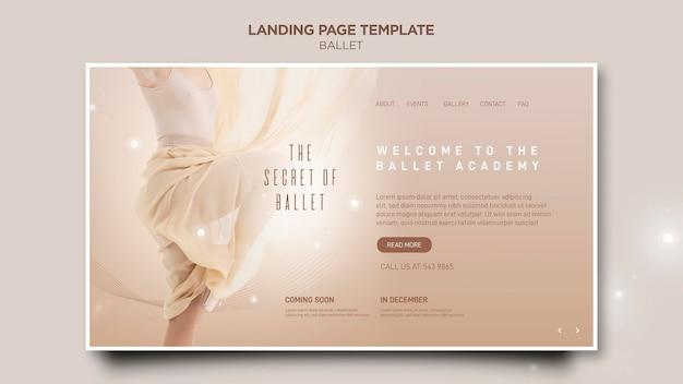 Modello di pagina di destinazione del concetto di ballerina