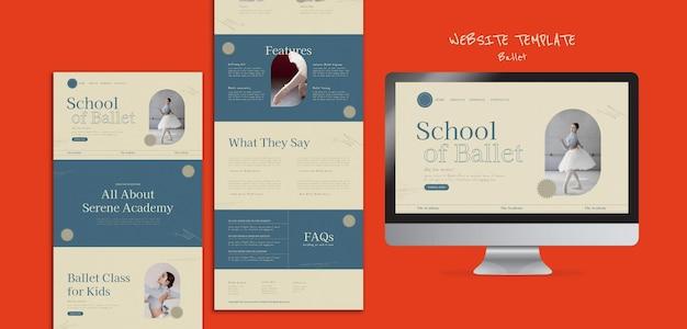 Modello di progettazione del sito web di balletto
