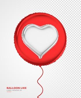 L'icona del palloncino come instagram 3d rende i social media