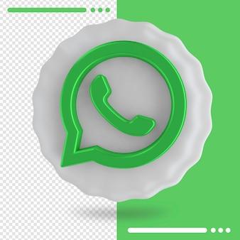 Palloncino e logo di whatsapp 3d rendering