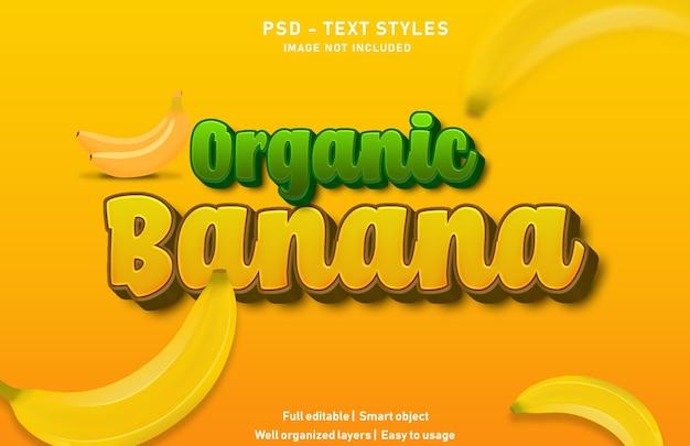 Modello di effetti di testo a banana