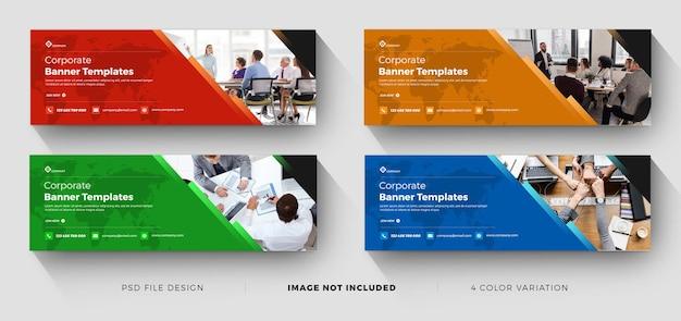 Banner per il marketing aziendale con vari colori