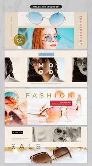 Banner in tema di abbigliamento e moda
