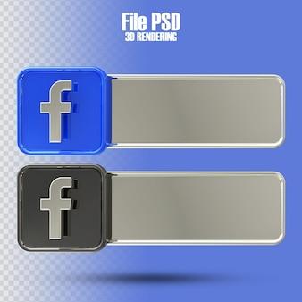Banner facebook 3d rendering