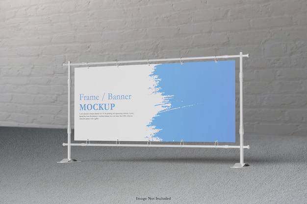 Rendering di progettazione mockup cornice banner