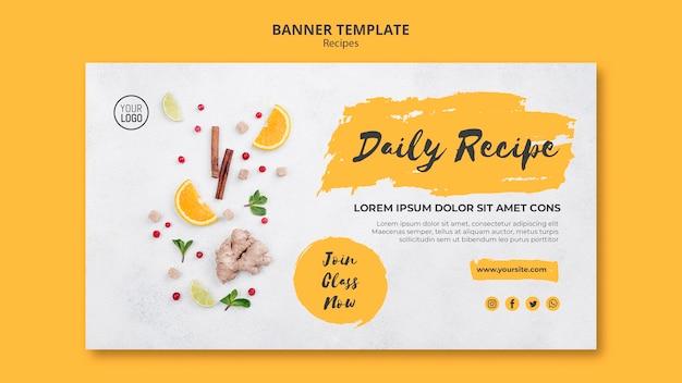 Modello di banner ricette sane
