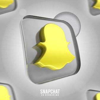 Rendering 3d di snapchat icona banner isolato