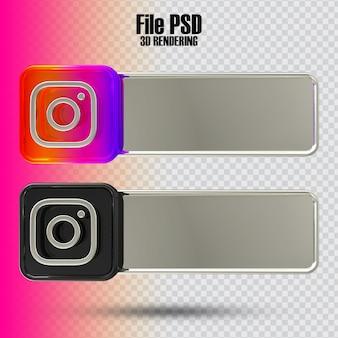 Banner instagram 3d rendering