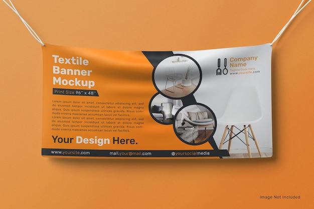 Modello di banner appeso al muro