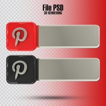 Banner pinterest 3d rendering