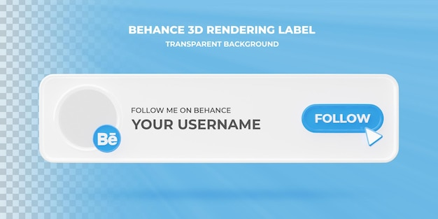 Banner search icon behance 3d rendering banner isolato