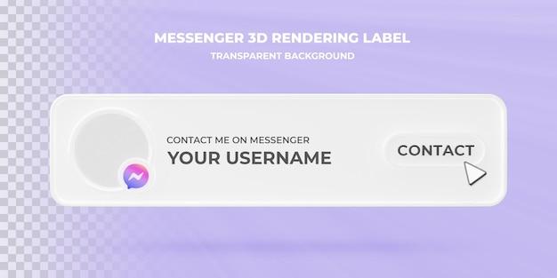 Banner cerca icona messenger 3d rendering banner isolato