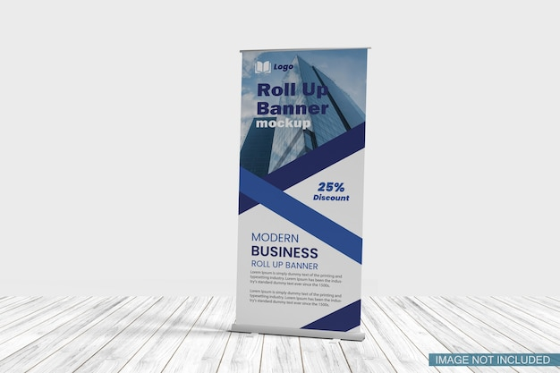 Banner stand mockup isolato
