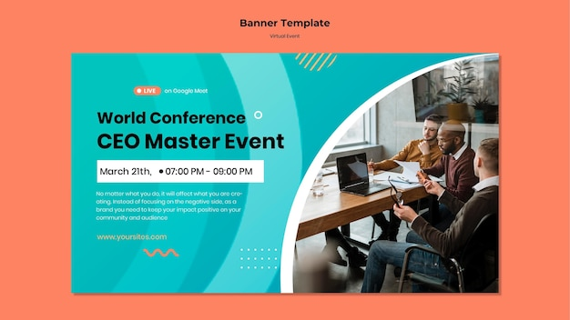 Modello di banner per conferenza evento ceo master