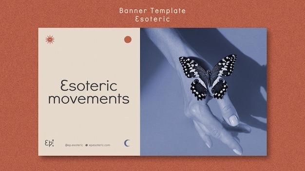 Modello di banner per misticismo ed esoterismo