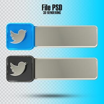 Banner twitte 3d rendering