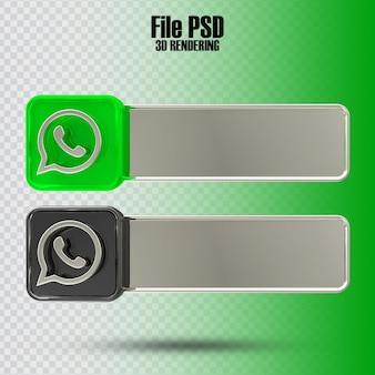 Banner whatapp 3d rendering