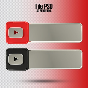 Banner youtube 3d rendering