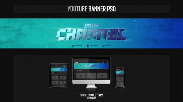 Banner per il canale youtube con il concetto di fitness