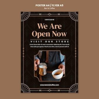 Modello di stampa per bar e caffè