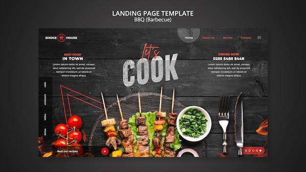 Modello di pagina di destinazione della casa del barbecue