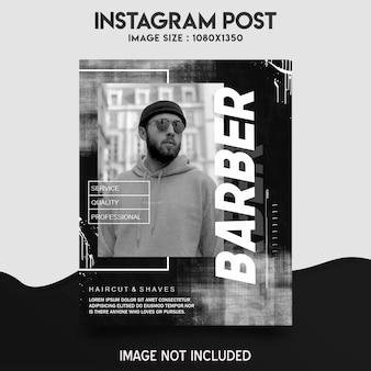 Modello di post instagram barbiere