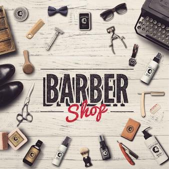 Modello di post di social media barbiere
