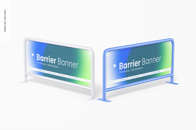 Mockup banner barriere, prospettiva