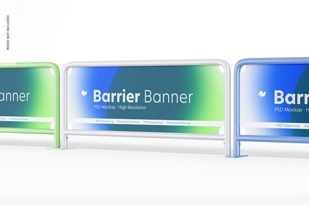 Mockup di set di striscioni di barriere