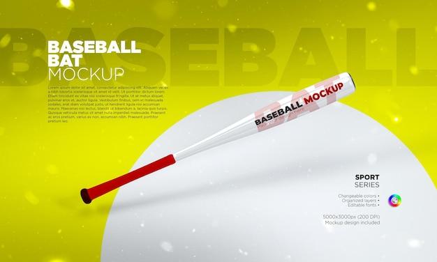 Mockup di mazza da baseball in rendering 3d