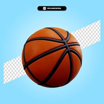Illustrazione di rendering 3d di pallacanestro isolata
