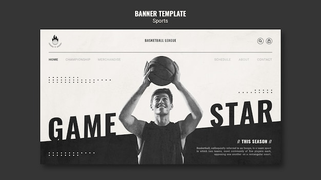 Modello di pagina di destinazione dell'annuncio di pallacanestro