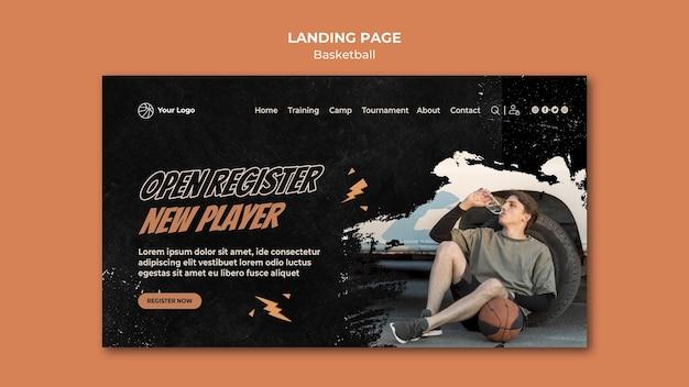 Modello di home page di basket
