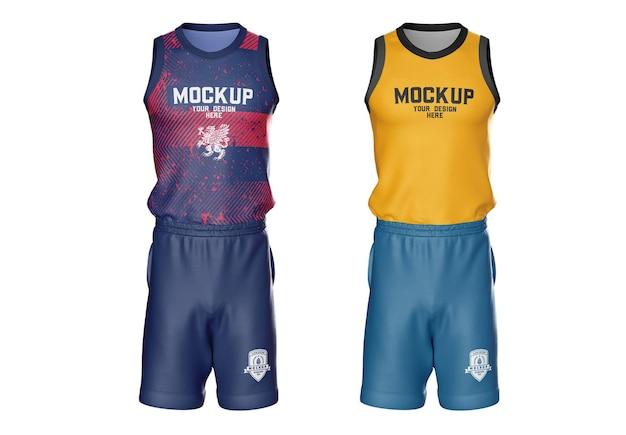 Mockup di kit da basket