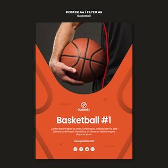 Disegno del modello di poster di basket