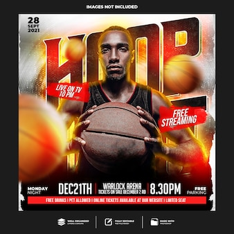 Modello di social media basket