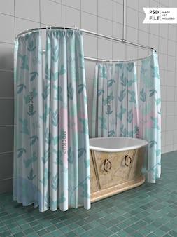 Modello di tenda da bagno